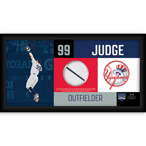 Aaron Judge New York Yankees 4x8 Frame with Game Used Uniform Swatch