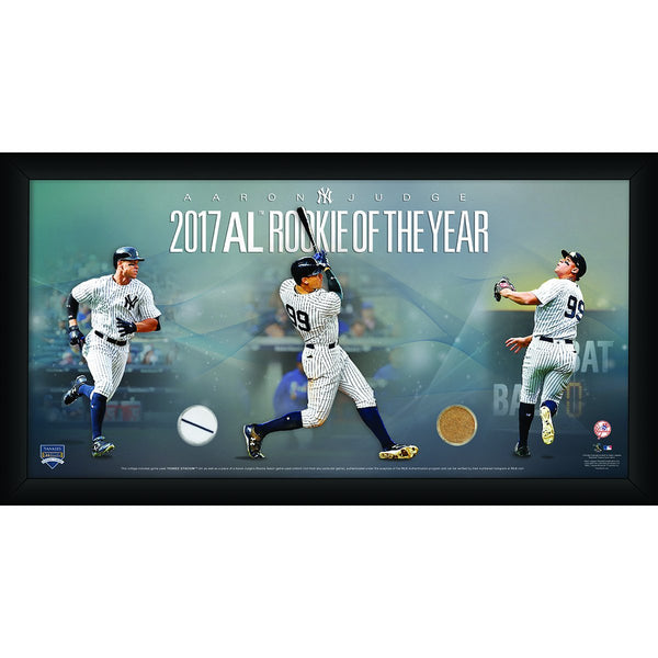 Aaron Judge New York Yankees 2017 Rookie of the Year 3 Photo Collage 10x20