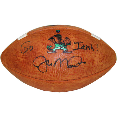 "Joe Montana Signed Notre Dame Game Model Football w/ ""Go Irish"" Inscription"