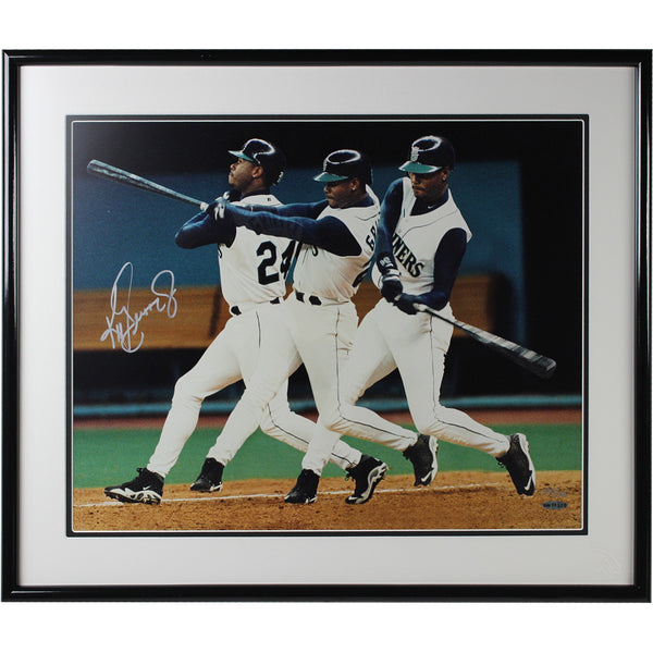 Ken Griffey Jr Signed Limited Edition 21x25 Swinging Framed Photo (UDA)