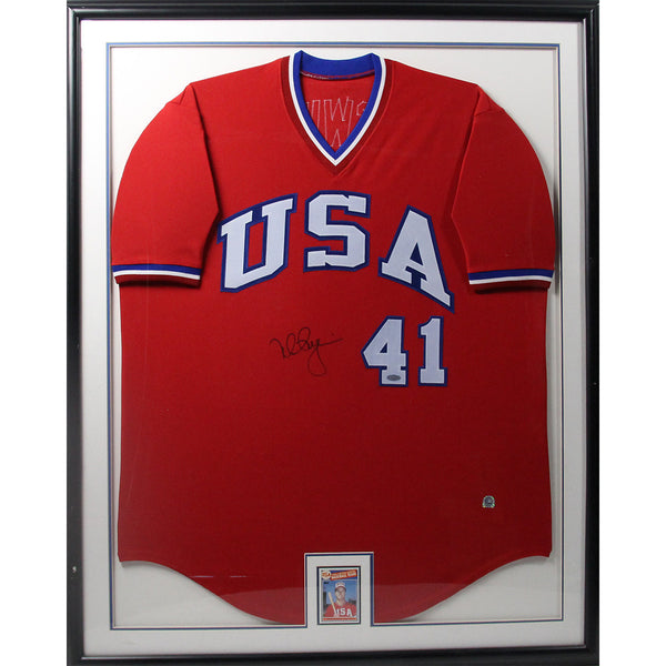Mark McGwire USA Jersey Framed with USA Rookie Card - Memorabilia - SPORTSCRACK