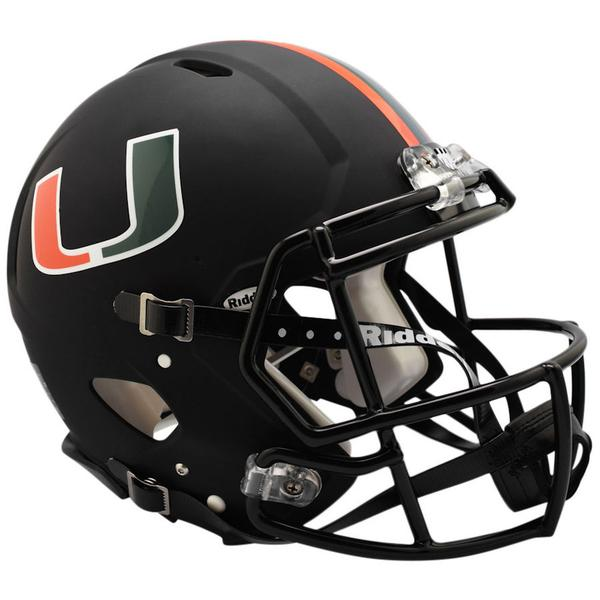 Miami Hurricanes Miami NIGHTS ALT Black Riddell Speed Mini Helmet