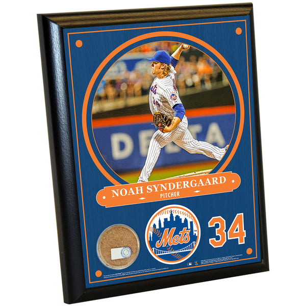 New York Mets Noah Syndergaard 8x10 Plaque with Game Used Dirt from Citi Field - Memorabilia - SPORTSCRACK