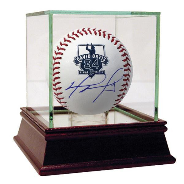 David Ortiz Signed Retirement Logo Baseball (Fanatics Auth)