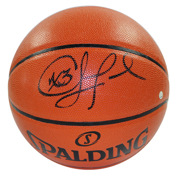Chris Paul Signed I/O NBA Orange Basketball (Adam Silver) (Signed In Black)