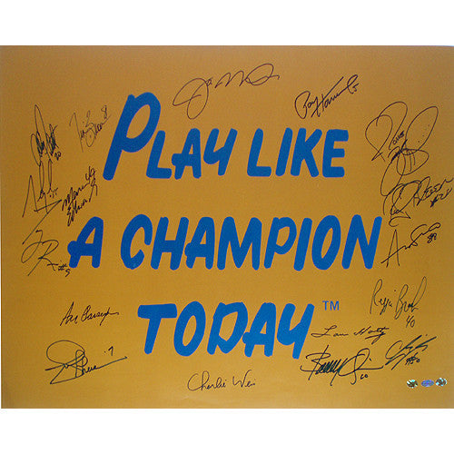 Notre Dame Play Like A Champion Today 16 Signature 20x30 Poster - Memorabilia - SPORTSCRACK