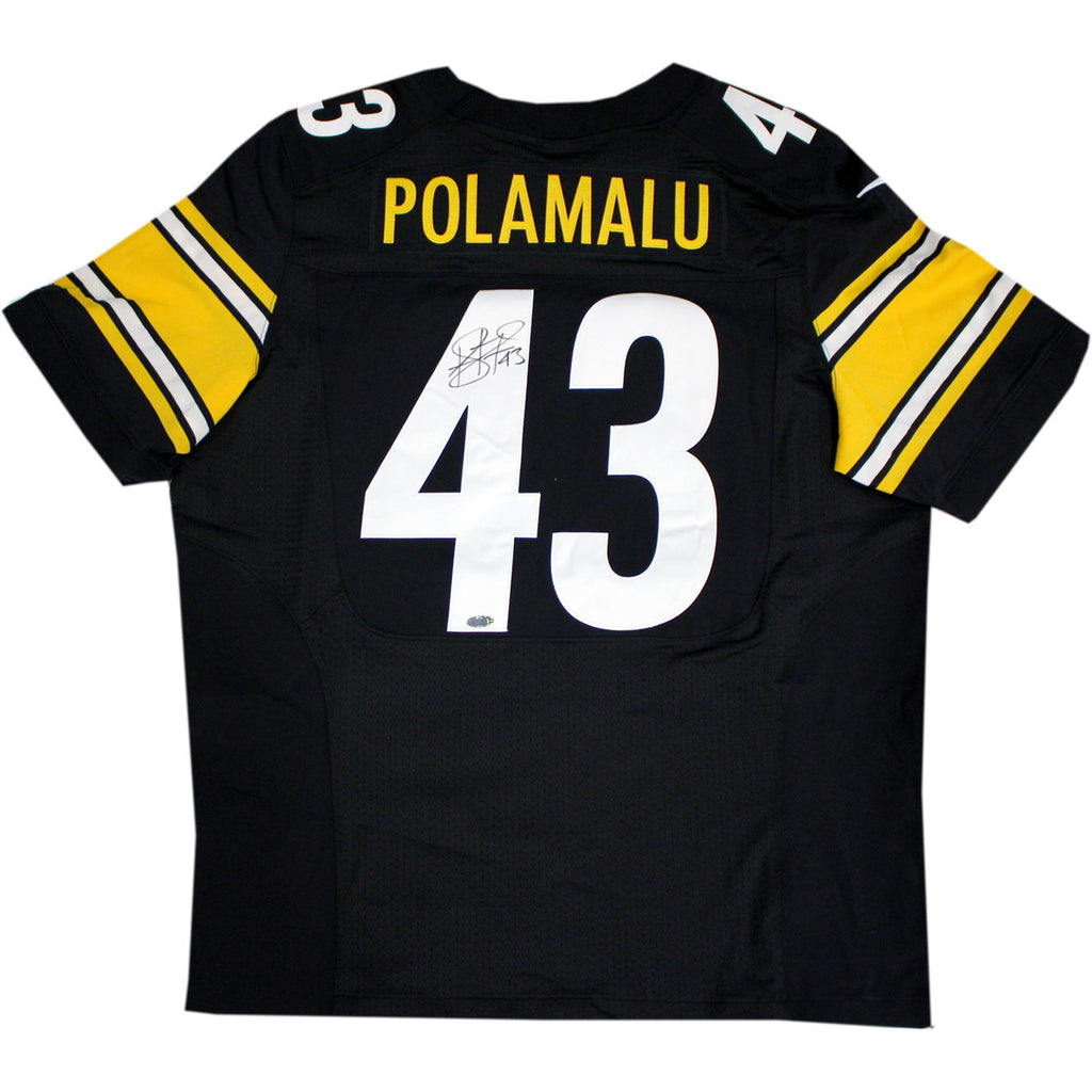 93028ad43 Troy Polamalu Signed Pittsburgh Steelers Nike Authentic Black jersey –  SPORTSCRACK