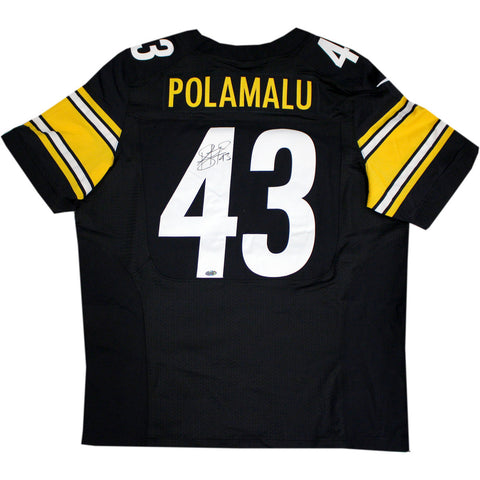 Troy Polamalu Signed Pittsburgh Steelers Nike Authentic Black jersey