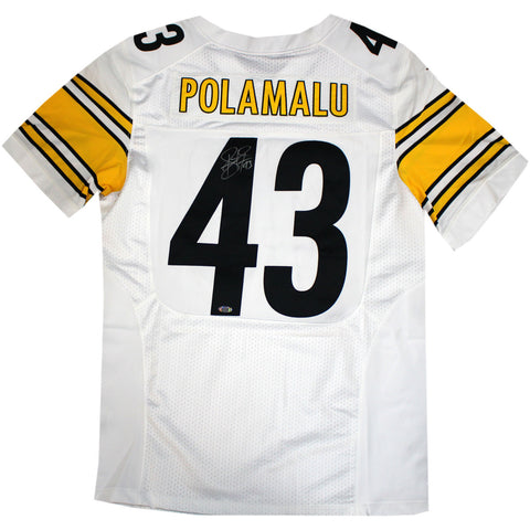 Troy Polamalu Signed Pittsburgh Steelers Nike Authentic White jersey