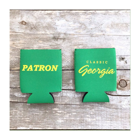Champions Green PATRON Beer Can Cooler Koozie