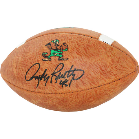 Rudy Ruettiger Signed Notre Dame Game Model Football