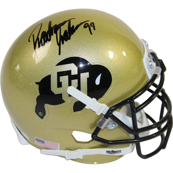 "Rashaan Salaam Signed Colorado Buffaloes Schutt Mini Helmet w/ ""'94"""