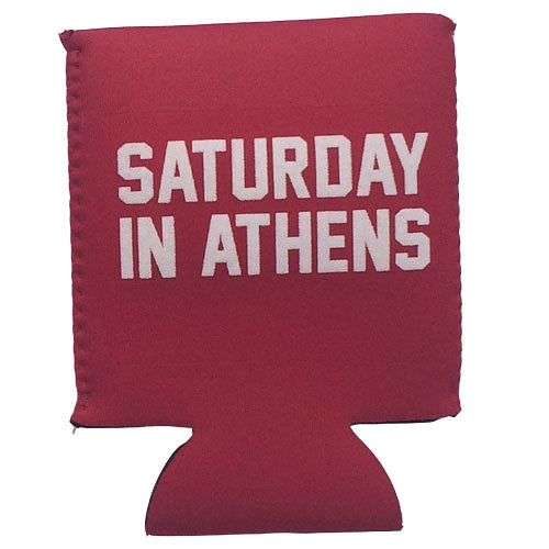 Classic Georgia - SATURDAY IN ATHENS Koozie