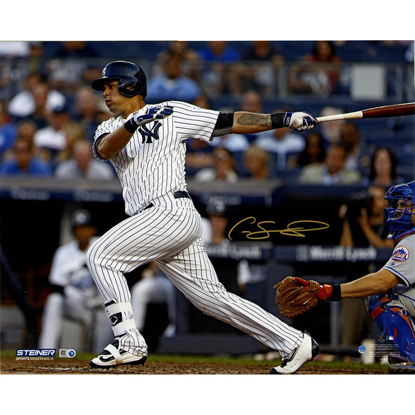 Gary Sanchez Signed 'Swinging' 16x20 Photo