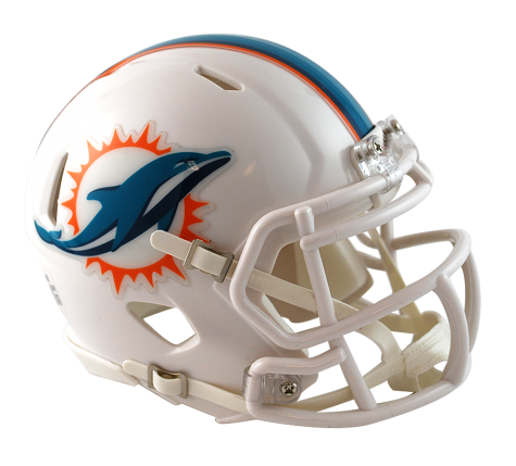 MIAMI DOLPHINS SPEED MINI HELMET