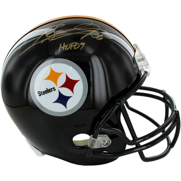 Rod Woodson Pittsburgh Steelers Authentic Helmet w/HOF 09 insc
