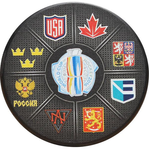 2016 World Cup Of Hockey Team Logo's Puck