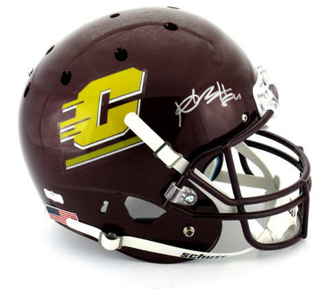 Antonio Brown Signed Central Michigan Chippewas Schutt XP Full Size NCAA Helmet - JSA