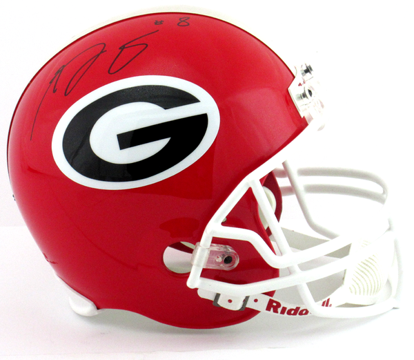 AJ Green Signed Georgia Bulldogs Riddell Full Size NCAA Helmet