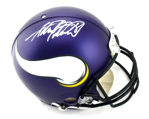 Adrian Peterson Signed Minnesota Vikings Riddell Authentic NFL Helmet