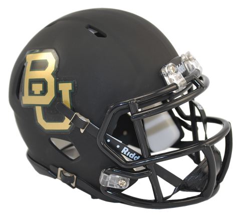 BAYLOR MATTE BLACK SPEED MINI HELMET