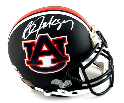 Bo Jackson Signed Auburn Tigers Black Authentic Custom Matte Helmet