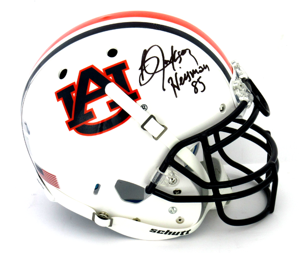 "Bo Jackson Signed Auburn Tigers Schutt Authentic NCAA Helmet With ""Heisman 85"" Inscription"