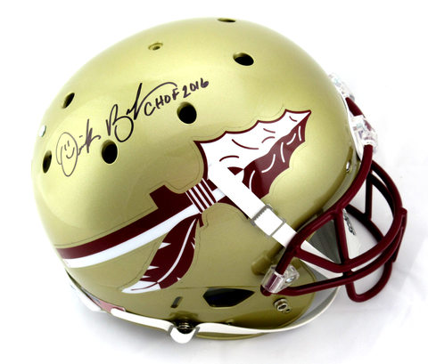 "Derek Brooks Signed Florida State Seminoles Schutt Full Size Helmet With ""CHOF 2016"" Inscription - JSA"