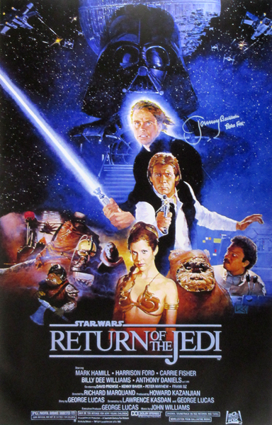 Jeremy Bulloch Autographed/Signed Star Wars Return of the Jedi Movie Poster