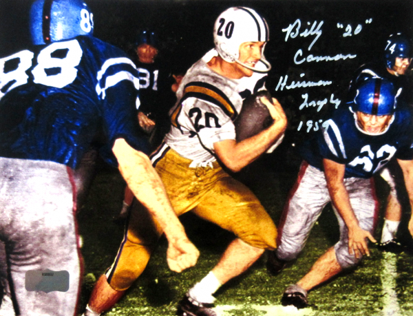 "Billy Cannon Signed LSU Tigers Iconic 8×10 Color Photo with ""Heisman Trophy 1959 – CHOF"" Inscription"