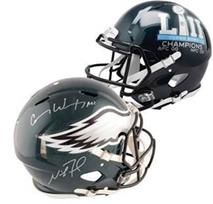 Carson Wentz and Nick Foles signed Super Bowl 52 Authentic Helmet