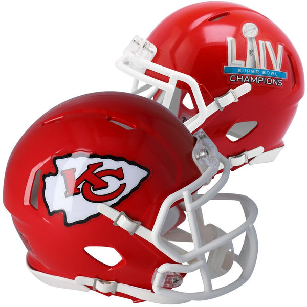 Kansas City Chiefs Super Bowl LIV Champions Riddell Speed Authentic Helmet
