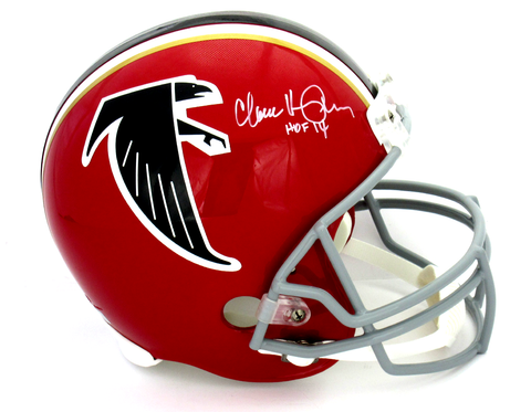 78f16d3c2 Claude Humphrey Signed Atlanta Falcons Throwback Riddell Full Size NFL  Helmet With