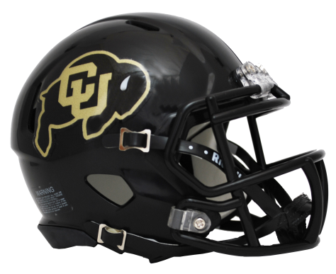 Colorado Buffaloes Riddell Speed Black Mini Helmet