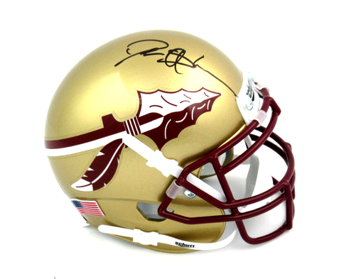 Deion Sanders Signed Florida State Seminoles Schutt NCAA Mini Helmet