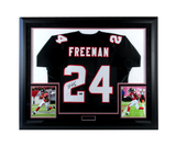 Devonta Freeman Signed Atlanta Falcons Framed Black Custom Jersey