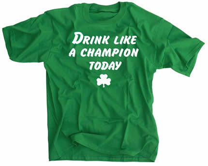 Drink Like A Champion Today St. Patrick's Day Irish Green Shirt -  Notre Dame - SPORTSCRACK
