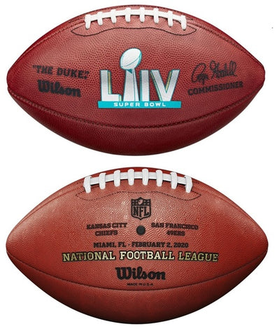 Wilson Official Leather NFL® SUPER BOWL 54 LIV Full Size Game Football Kansas City Chiefs vs San Francisco 49ers