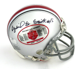 Ezekiel Elliott Signed Ohio State Buckeyes Riddell BCS Commemorative Mini Helmet