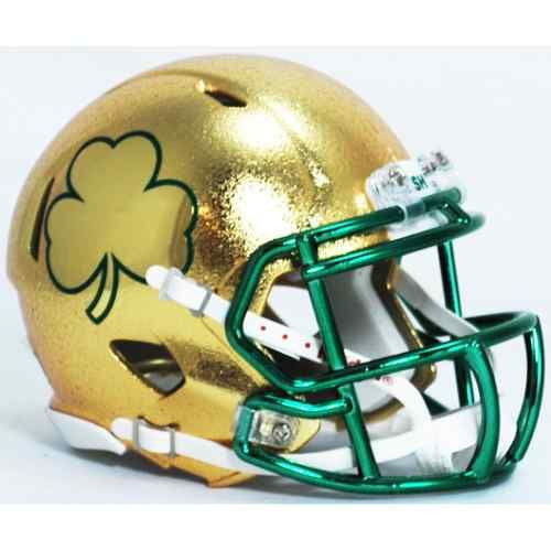 Notre Dame 2013 Shamrock Series Texas HYDROFX Riddell Speed Mini Helmet