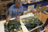 "Brett Favre Signed Green Bay Packers Wrapped 16×20 Canvas with ""Bart, Thanks for Leading the Way"" Inscription"