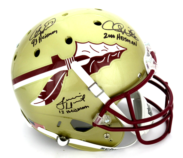 "Charlie Ward, Chris Weinke & Jameis Winston Signed Florida State Seminoles Full Size Helmet ""Heisman Years"""