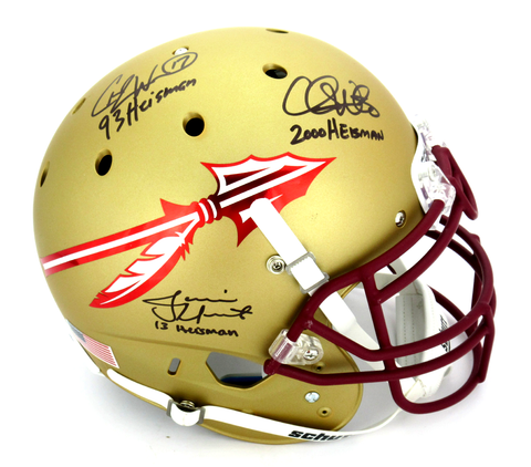 "Charlie Ward, Chris Weinke & Jameis Winston Signed Florida State Seminoles Authentic Helmet ""Heisman Years"""