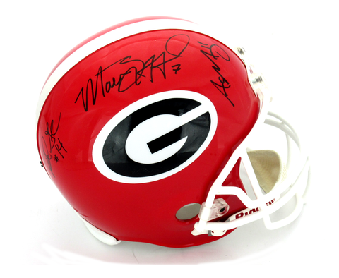 Matthew Stafford, Aaron Murray & David Greene Signed Georgia Bulldogs Riddell Full Size Helmet