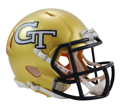 Georgia Tech Yellow Jackets Riddell Speed Mini Helmet - Helmet - SPORTSCRACK