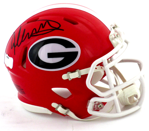 Todd Gurley Autographed/Signed Georgia Bulldogs Riddell Revolution Speed NCAA Mini Helmet