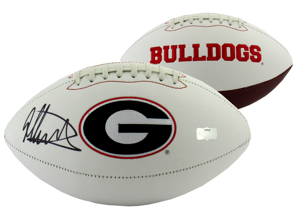 Todd Gurley Signed Georgia Bulldogs Embroidered NCAA Logo Football - Memorabilia - SPORTSCRACK