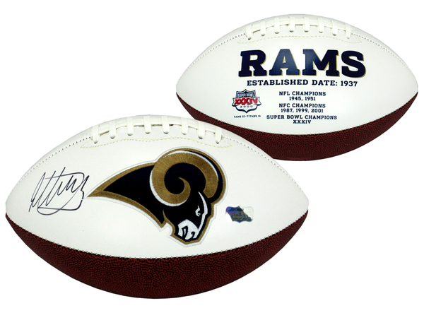 Todd Gurley Signed Los Angeles Rams Embroidered NFL Logo Football - Memorabilia - SPORTSCRACK