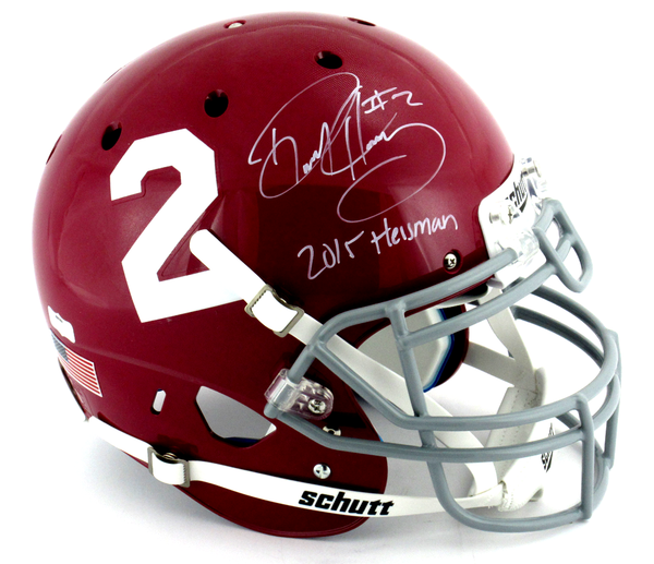 "Derrick Henry Signed Alabama Crimson Tide Schutt Authentic Helmet With ""2015 Heisman"" Inscription"