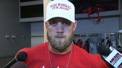Make Baseball Fun Again White Hat Bryce Harper 2016